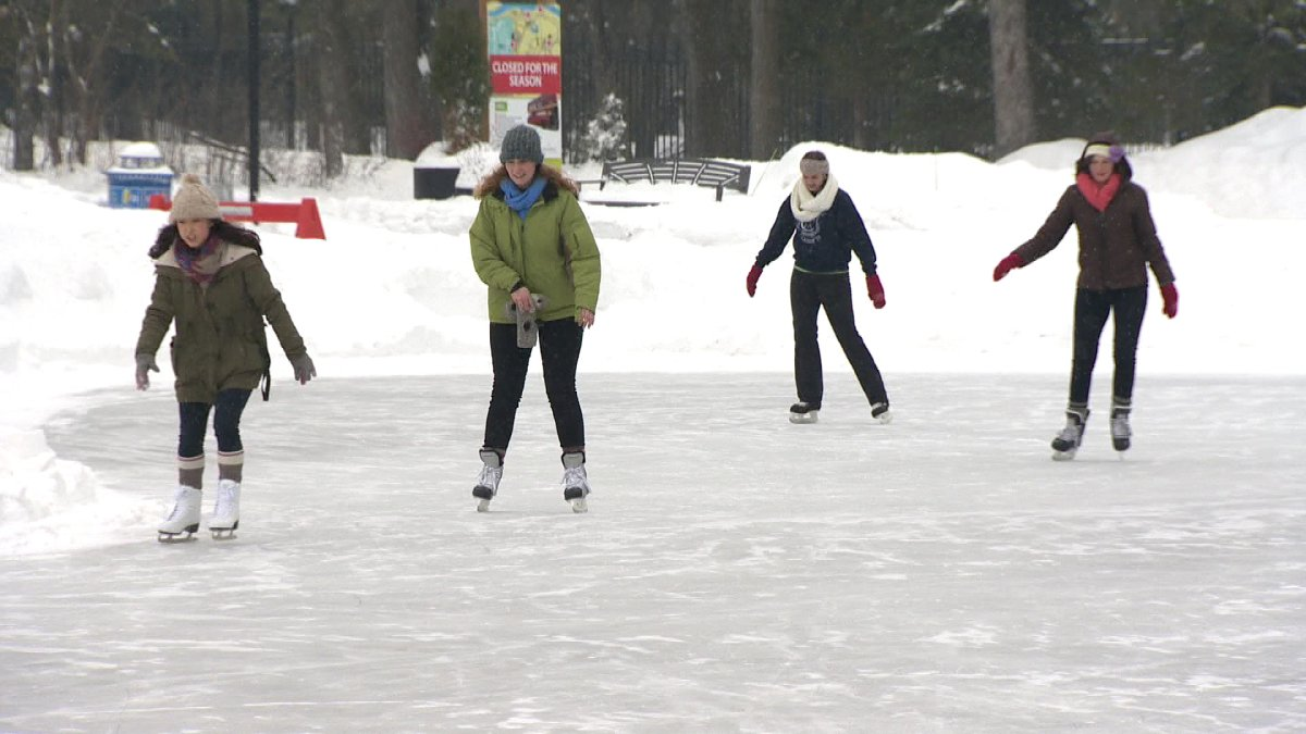 The guests from Australia and New Zealand will get to experience walking and skating on the river trail.