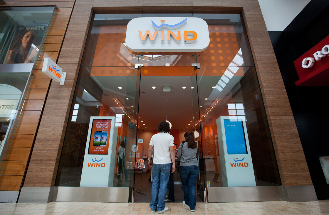 Wind Mobile operates in major markets across in B.C., Alberta and Southern Ontario.