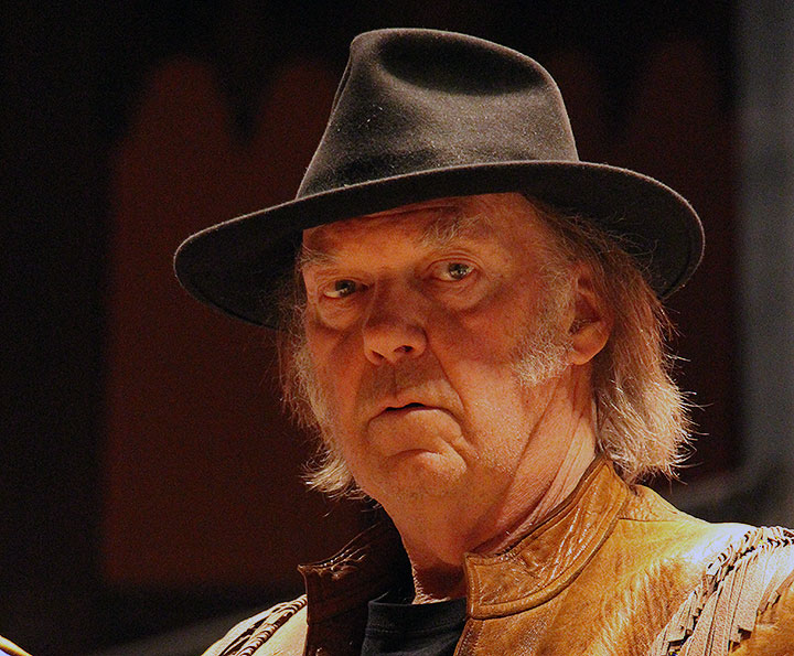 Neil Young, pictured Jan. 12, 2014 at Massey Hall in Toronto.