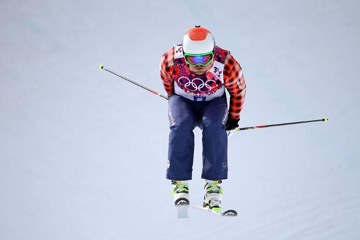 Brady Leman of Canada competes during the Freestyle Skiing Men's Ski Cross Seeding on day 13 of the 2014 Sochi Winter Olympic at Rosa Khutor Extreme Park on February 20, 2014 in Sochi, Russia.