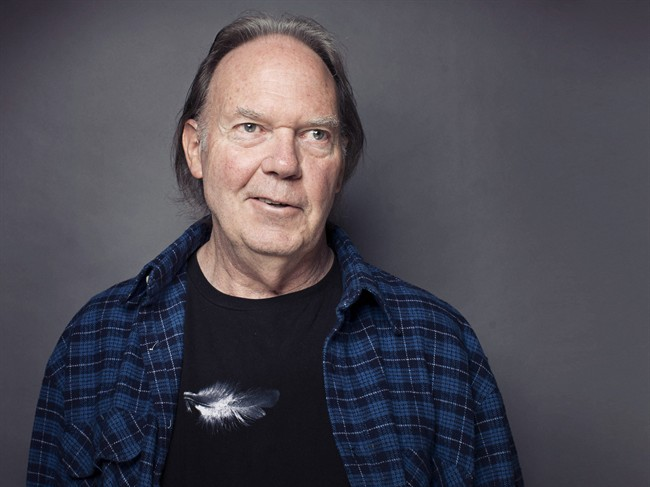Neil Young poses for a portrait at The Carlyle hotel in New York.