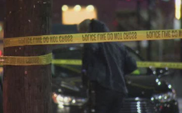 Police investigate after a stabbing in Yaletown early Sunday morning.