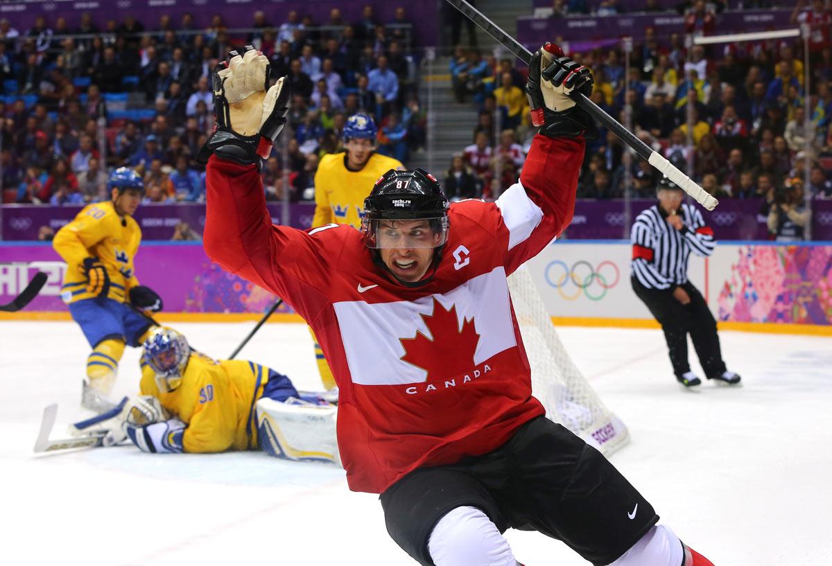 Canada vs Sweden: gold medal hockey game