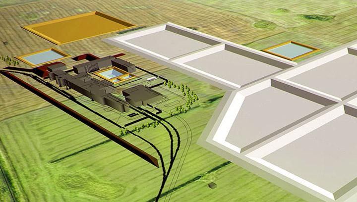 Rendering of Fortune Minerals' proposed Saskatchewan Metals Processing Plant in Langham, Sask.