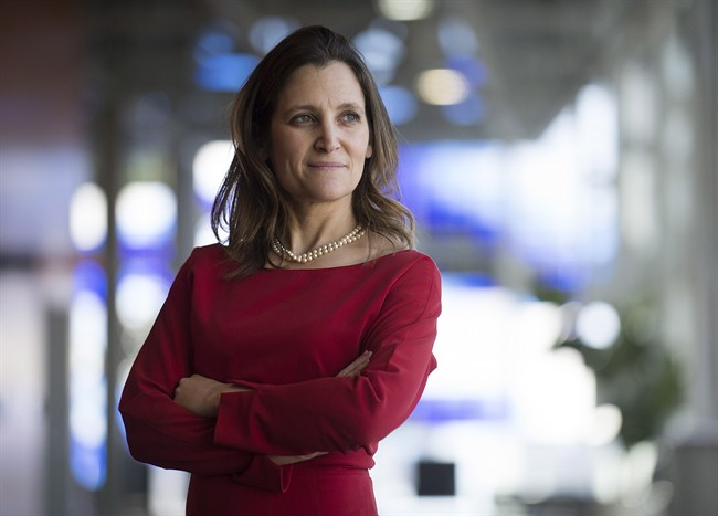 Chrystia Freeland poses for a photograph on February 22, 2014.