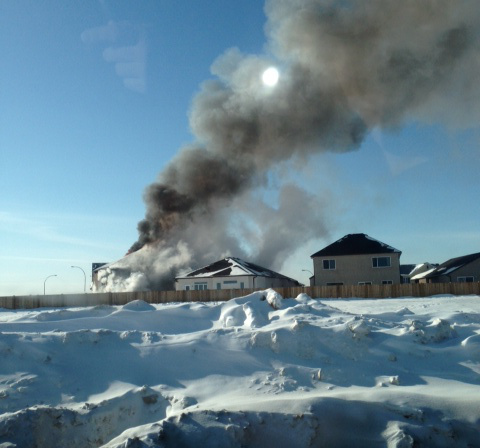 A flash over happened at a house fire in Transcona on Monday.