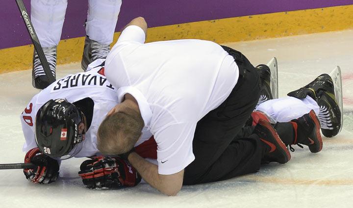 Canada vs Latvia: Quarterfinals of the men's hockey tournament in Sochi