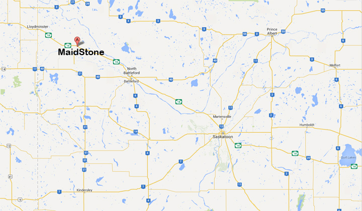 Not a drop spilt after a semi carrying a full load of diesel collides with truck near Maidstone, Saskatchewan.