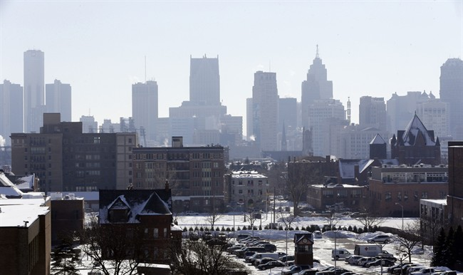 In a photo from Feb. 12, 2014, the Detroit skyline is seen from the city's midtown. Detroit's creditors and residents are expected to get their first official glimpse this week of the road out of bankruptcy, even as fights and tinkering continue. A proposal to restructure the city's debt could be filed by state-appointed emergency manager Kevyn Orr to the bankruptcy court as early as Wednesday, Feb. 19. It's considered a blueprint for Detroit, undergoing the largest municipal bankruptcy in U.S. history. (AP Photo/Carlos Osorio).