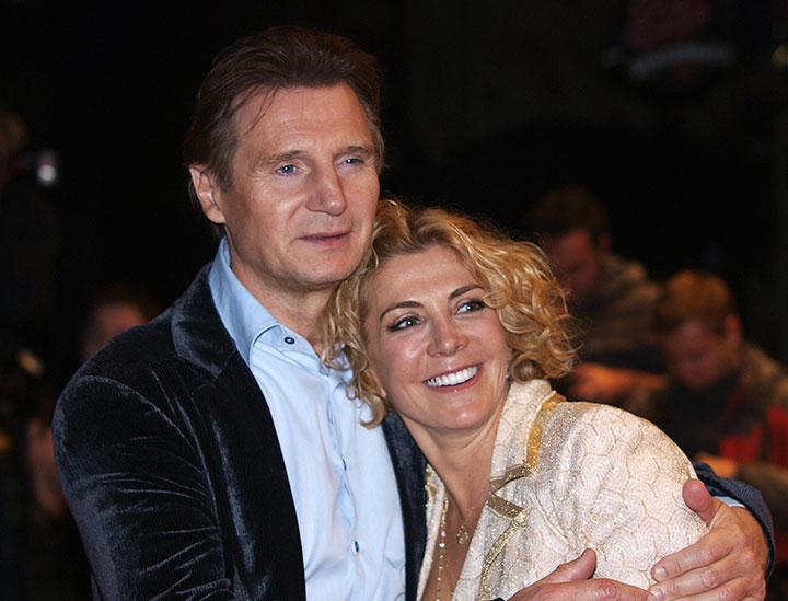Liam Neeson and Natasha Richardson, pictured in October 2008.