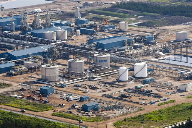 The Suncor Firebag oil sands facility seen near Fort McMurray, Alta., on July 10, 2012.