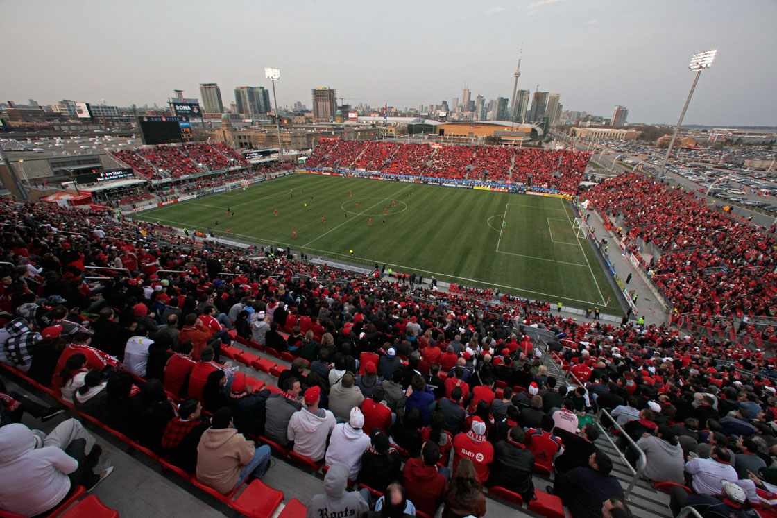 Fans a BMO Field, home to Toronto FC, in April 2011. TFC, which is owned by MLSE, has not made the post-season in seven years of existence.