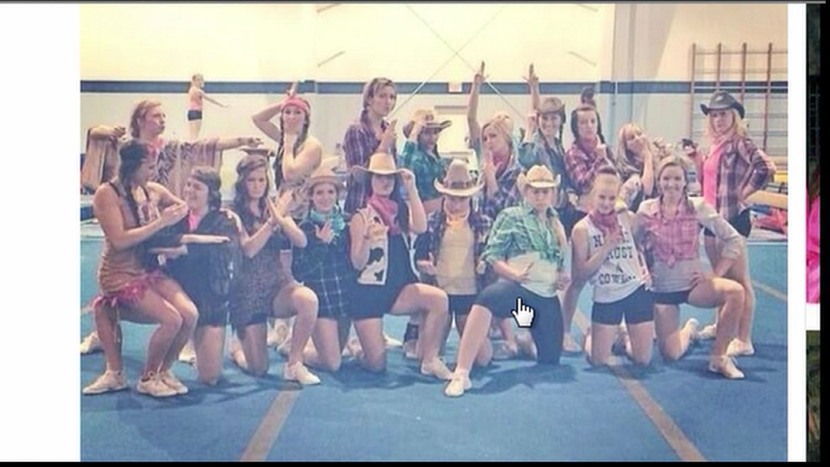 The University of Regina's cheerleading team is under fire, after a controversial photo was posted online this weekend.