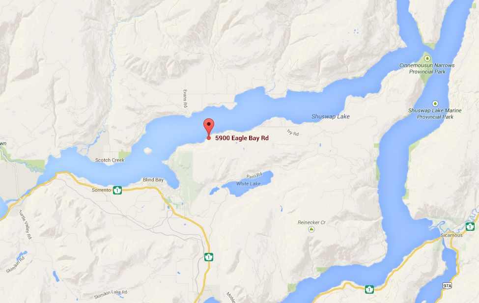Fire crews say a mudslide hit in the 5900-block of Eagle Bay Road Saturday night.