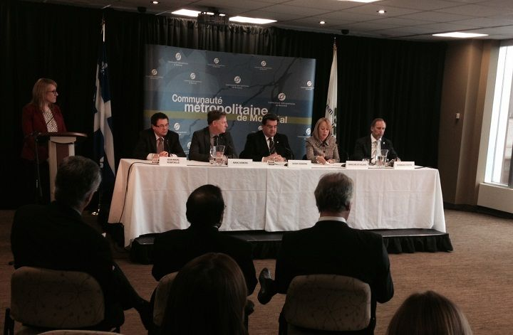 Montreal mayor Denis Coderre speaks at a news conference Thursday, March 20, 2014.