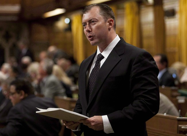 Conservative MP Rob Anders rises in the House of Commons in Ottawa, Wednesday September 26, 2012. Conservative party officials are chastising Anders for what they say were misleading phone calls placed during a heated nomination battle — a pointed message that they want the race to be fair and open.THE CANADIAN PRESS/Adrian Wyld.