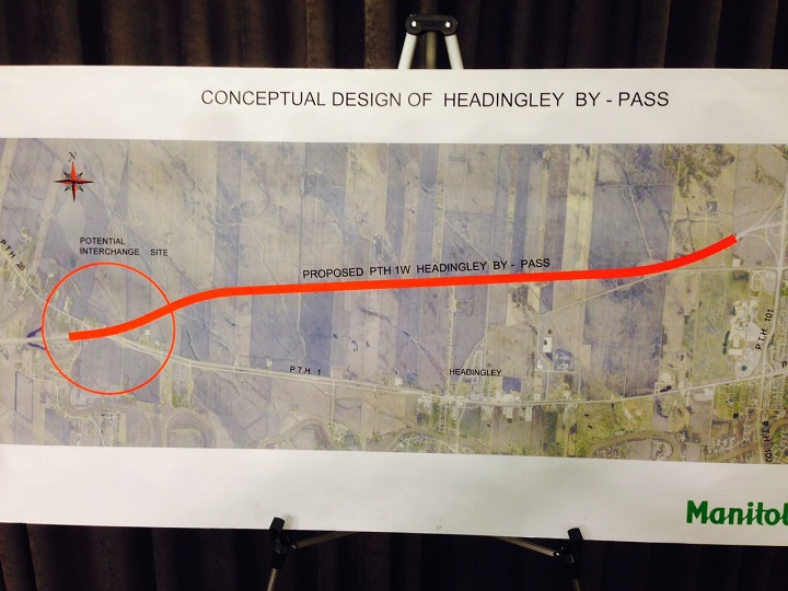 Officials revealed plans Monday for the four lane, divided expressway to be called PTH 190. It would start at PTH 26 near St. Francois Xavier and go north of the Trans-Canada Highway until it connects with the existing CentrePort Canada Way at the Perimeter Highway.