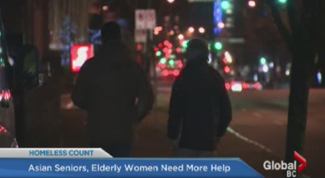 Volunteers take part in the 2014 homeless count