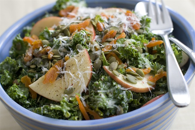 Turning raw kale into a salad you will crave