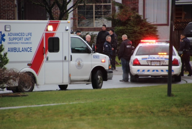 Police are investigating an incident in Langley that sent two people to hospital Sunday.