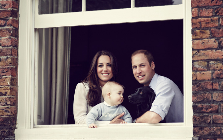 The Duke and Duchess of Cambridge release new family photo with Prince George ahead of their Australian and New Zealand tour.