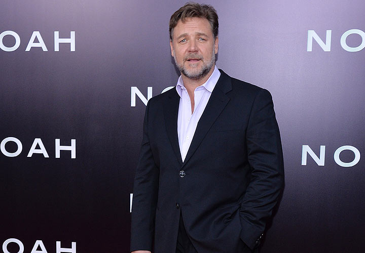Actor Russell Crowe attends the New York premiere of Paramount Pictures' 'Noah'