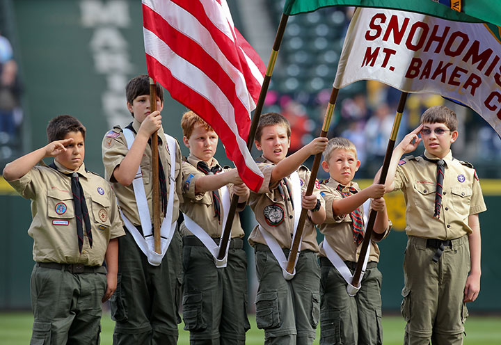 File photo of members of the Boy Scouts of America, pictured in 2010.