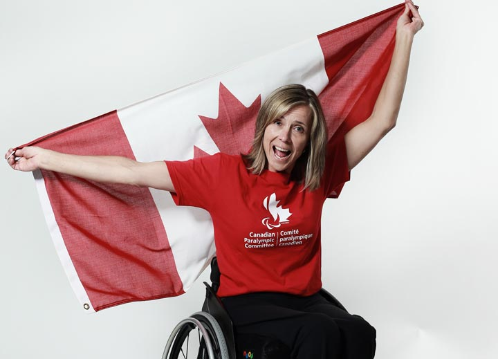 Sonja Gaudet poses for a portrait during the Canadian Olympic Committee Portrait Shoot on May 13, 2013 in Vancouver, British Columbia, Canada.