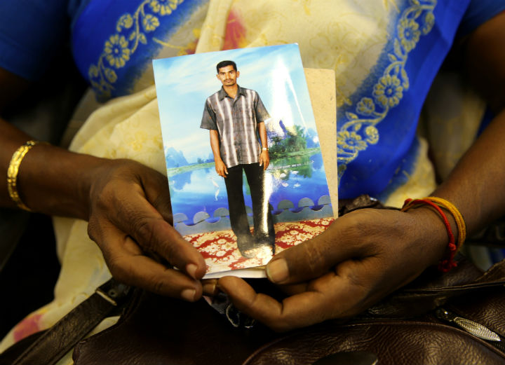 Hundreds of ethnic Tamil women demanded information on Friday about relatives who have been missing since Sri Lanka's civil war.