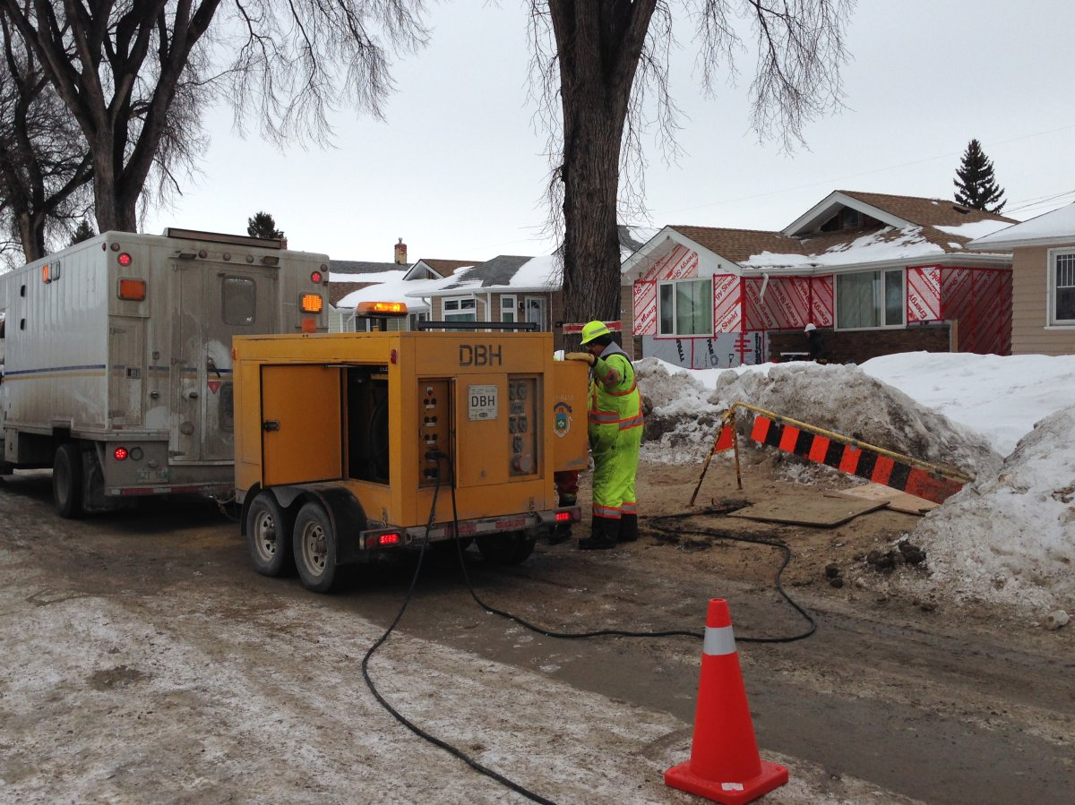 City crews thaw frozen pipes with one of three specialized machines.