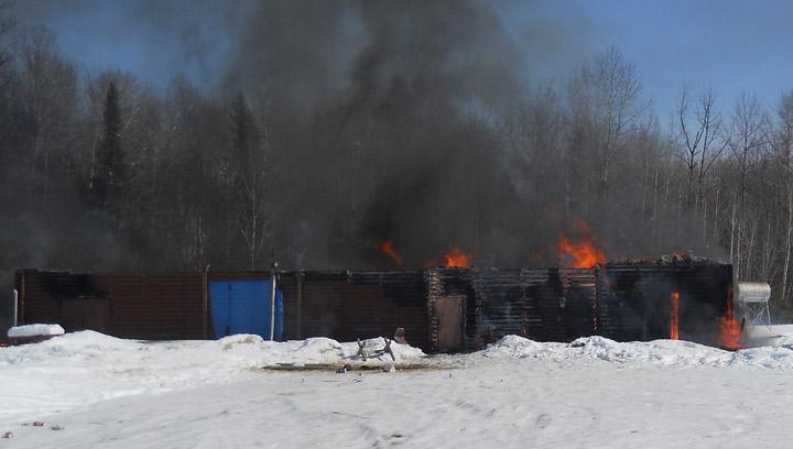 Weekend fire destroys recreational facility in Timber Bay, Saskatchewan.