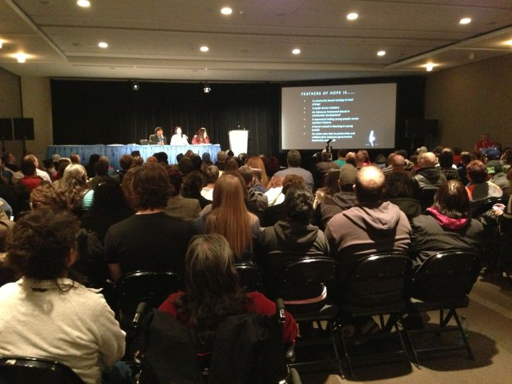On day three of the Truth and Reconciliation Commission in Edmonton, young aboriginal people shared their struggles with hundreds of audience members.