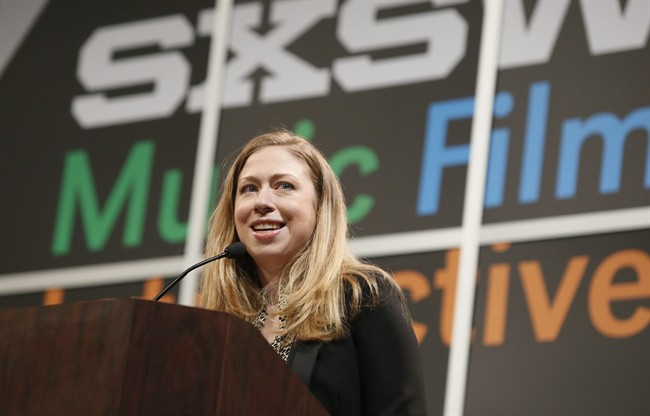 Chelsea Clinton gives the keynote during the SXSW Interactive for Harnessing the Power of Tech and Data for Development on Tuesday, March 11, 2014, in Austin, Texas.