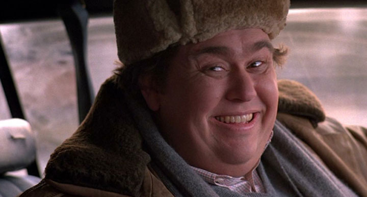 John Candy, pictured in a scene from the comedy 'Uncle Buck.'.