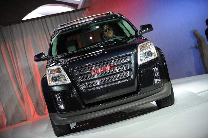 The GMC Terrain crossover vehicle is unveiled at the New York International Auto Show April 8, 2009 in New York.