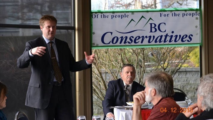 Dan Brooks was named leader of the BC Conservatives Saturday in Richmond, B.C.