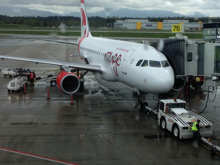 Air Canada Rouge aircraft. File photo.