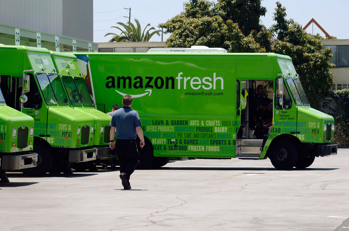 Amazon has been testing its own truck delivery service in the United States in recent months.