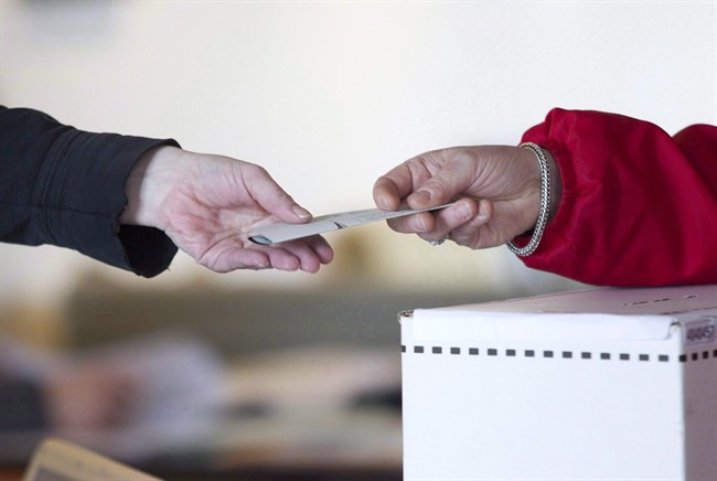 If you want to cast a declined ballot, simply hand it back to the returning agent.