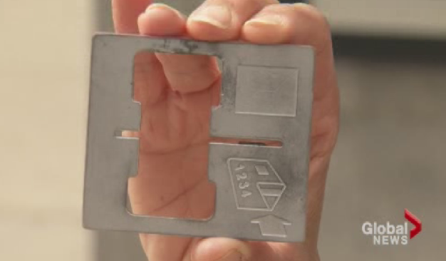 This is the plate that is inserted into the machine to skim your credit card information.