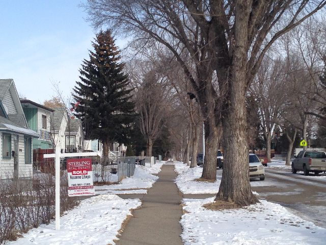 A file photo of homes for sale in Edmonton.