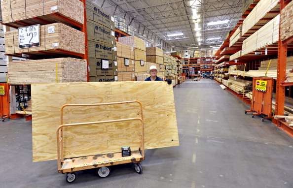 Home supplies spending declined in February for the fifth month in the past six.