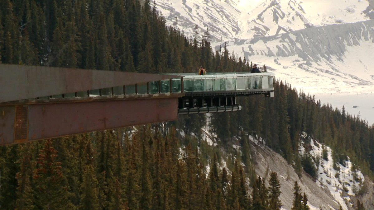 The Glacier Skywalk in Jasper National Park.