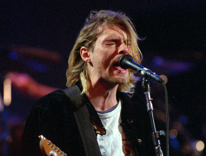 Kurt Cobain, pictured in December 1993.