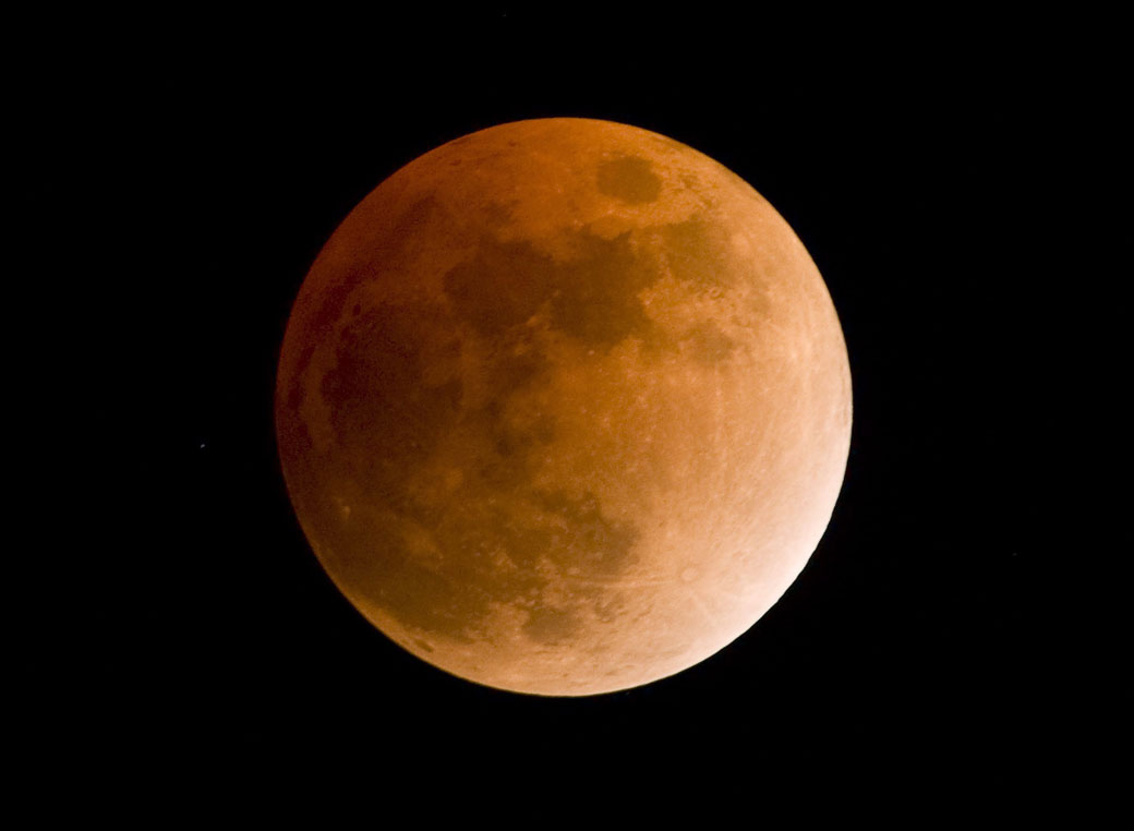 A blood moon? No...just a total lunar eclipse.