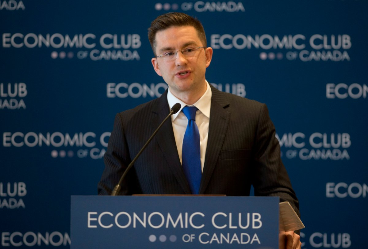 Employment Minister Pierre Poilievre did not have time to speak with Global News for this story.
