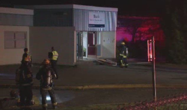The cause of the fire is unknown but a large portion of the school was damaged.