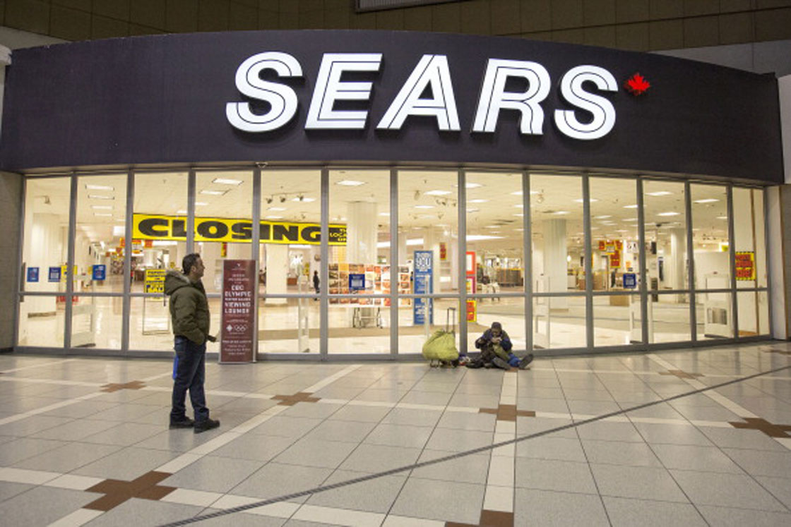 Sears' Eaton Centre store in late February, on the eve of the iconic location's closing.