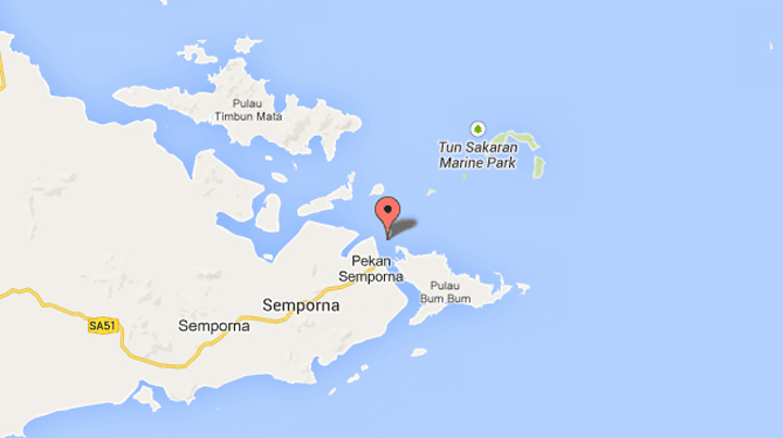 Map showing the location of the Singamata Reef Resort.