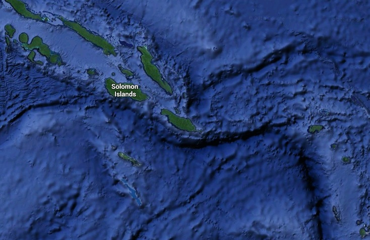 Another earthquake off the coast of the Solomon Islands.